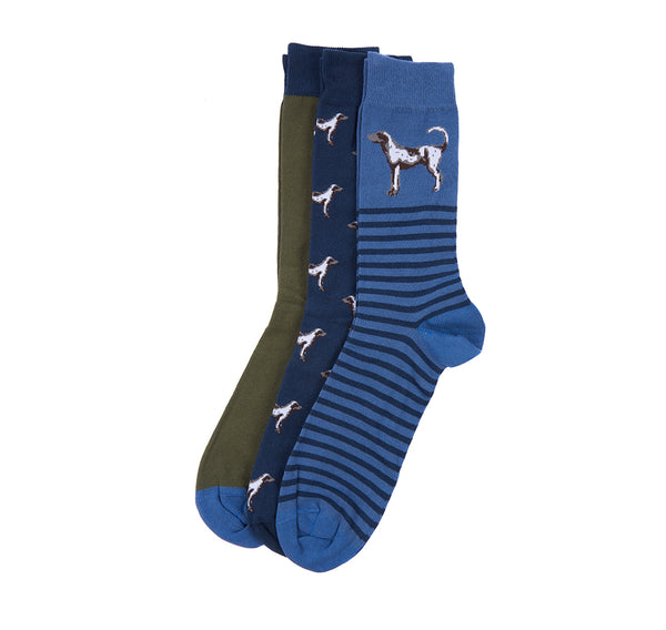 BARBOUR čarape Dog Multi Socks Set 3/1 BRMSO0171