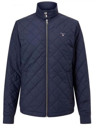 GANT JAKNA 7001569 EVENING BLUE QUILTED WINDCHEATER