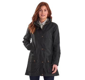 BARBOUR JAKNA BRLWX0994 LOVE WAXED SAGE/BARBOUR PRINT