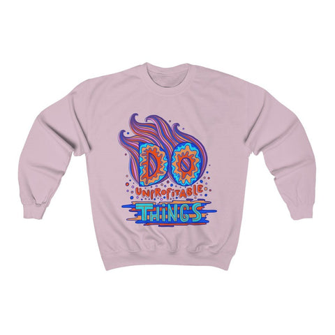 """Do Unprofitable Things"" - Heavy Blend Crewneck Sweatshirt - Gift for Artists"