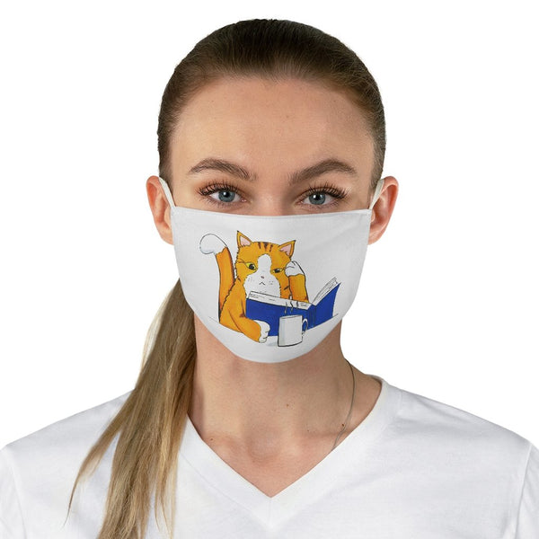 Cat Reading - Non-Surgical Fabric Face Mask - Artichokes For Dinner • T-Shirts