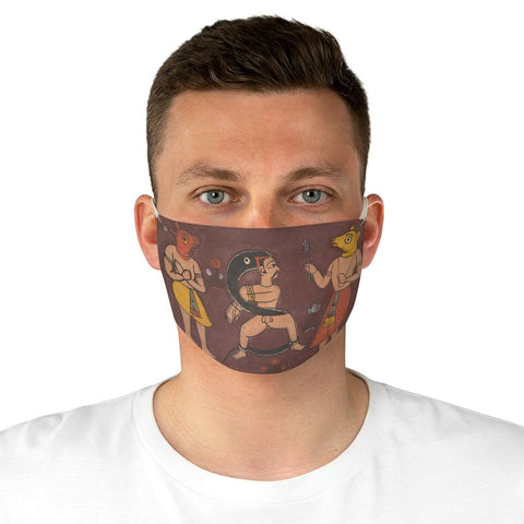 Folk Painting - Fabric Face Mask - Artichokes For Dinner • T-Shirts