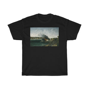 Burning of the Sidewheeler Henry Clay - Heavy Cotton Tee - Artichokes For Dinner • T-Shirts