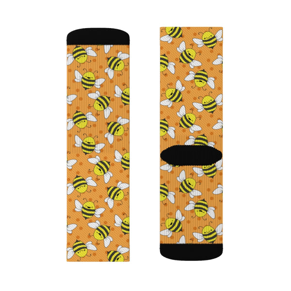 Happy Bee Sublimation Socks - Bee Socks - Artichokes For Dinner T-Shirts & Stuff