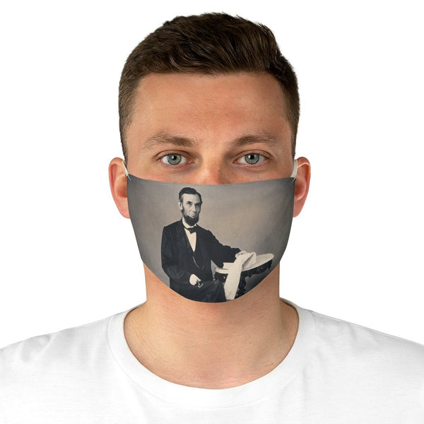 Abraham Lincoln - Fabric Face Mask - Artichokes For Dinner • T-Shirts