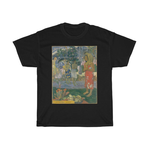 Paul Gauguin - Ia Orana Maria (Hail Mary) - Heavy Cotton Tee - Paul Gauguin Art