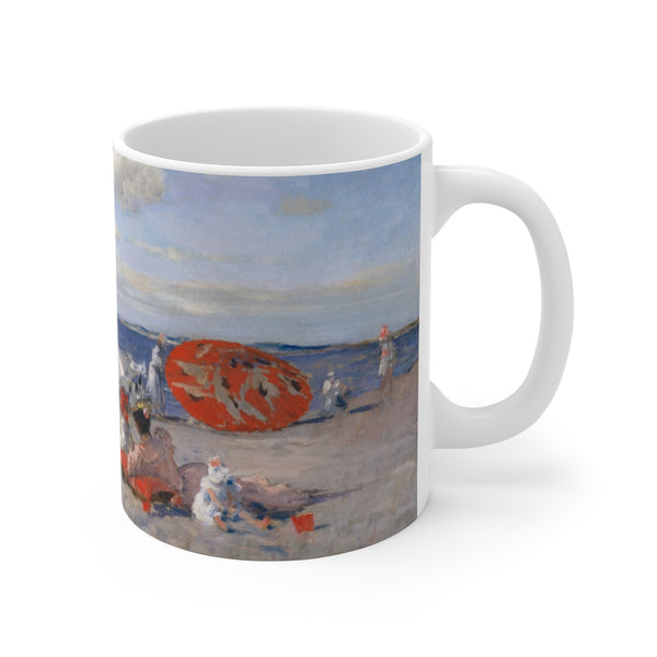 William Merritt Chase - At the Seaside - Mug 11oz - Beach Paintings - Artichokes For Dinner T-Shirts & Stuff