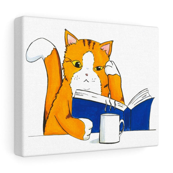 Cat Reading - Canvas Gallery Wrap Home Decor - Cat Decor - Artichokes For Dinner T-Shirts & Stuff