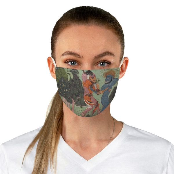 Demons Fighting Over an Animal Limb - Fabric Face Mask - Artichokes For Dinner • T-Shirts