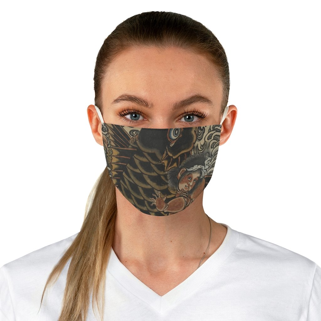 Kintaro with Carp - Fabric Face Mask - Artichokes For Dinner • T-Shirts
