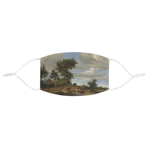 Salomon van Ruysdael - A Country Road - Fabric Face Mask - Artichokes For Dinner • T-Shirts