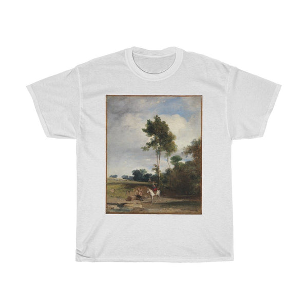 Richard Parkes Bonington - Roadside Halt - Heavy Cotton Tee - Artichokes For Dinner • T-Shirts