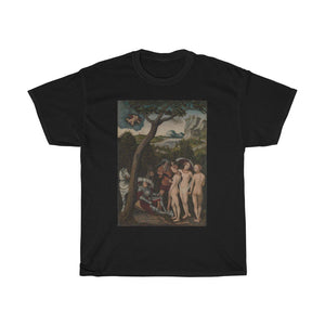 Lucas Cranach the Elder - The Judgment of Paris - Heavy Cotton Tee - Artichokes For Dinner • T-Shirts