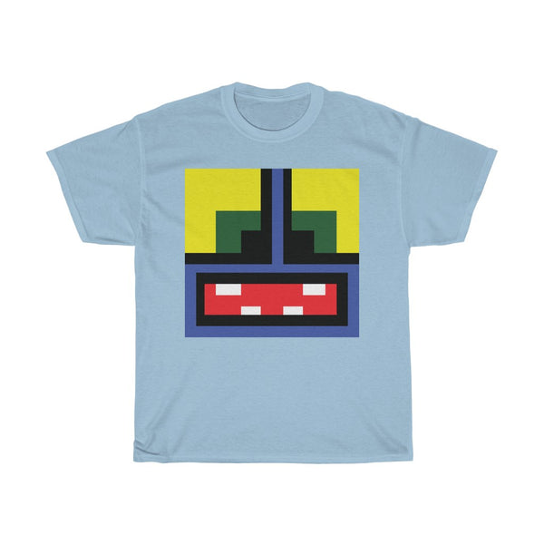 Monster Face - Heavy Cotton Tee - Blue Monster