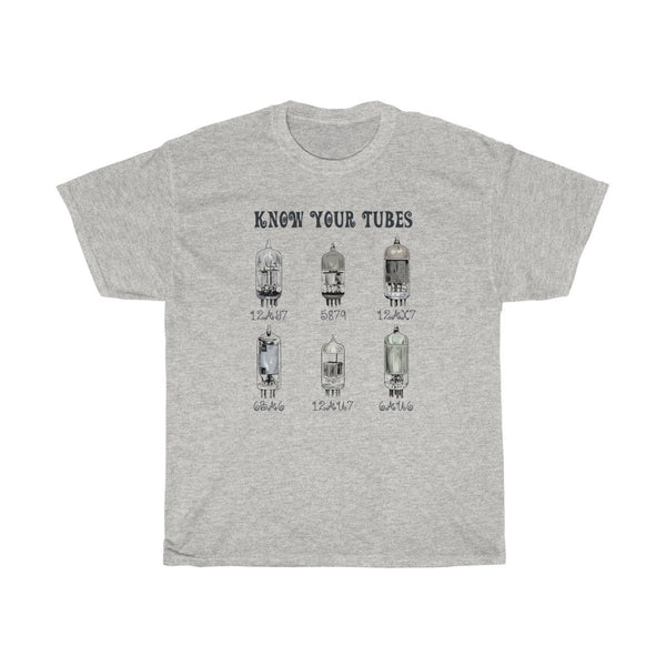 """Know Your Tubes"" - Heavy Cotton Tee - Tube Tech Gift"