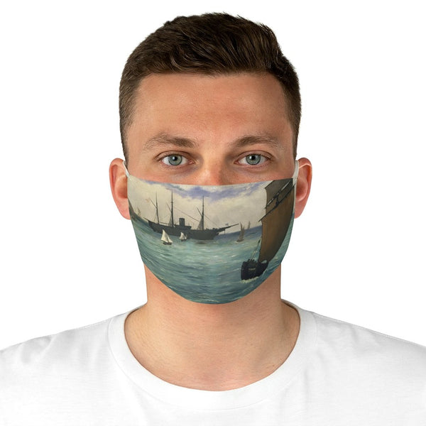 "Edouard Manet - The ""Kearsarge"" at Boulogne - Fabric Face Mask - Artichokes For Dinner • T-Shirts"