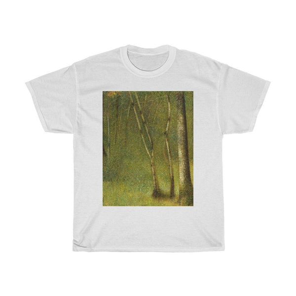 Georges Seurat - The Forest at Pontaubert - Heavy Cotton Tee - Artichokes For Dinner • T-Shirts