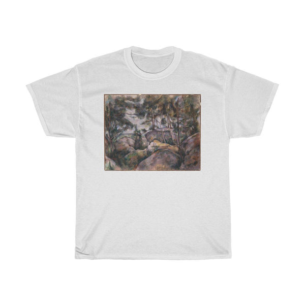 Paul Cézanne - Rocks in the Forest - Heavy Cotton Tee - Artichokes For Dinner • T-Shirts