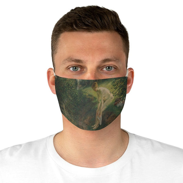 Camille Pissarro - Bather in the Woods - Fabric Face Mask - Artichokes For Dinner • T-Shirts