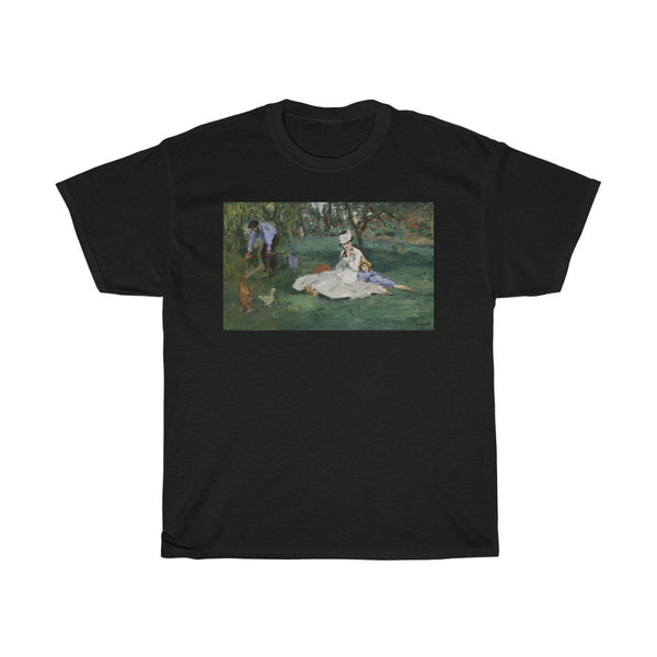 Edouard Manet - The Monet Family in Their Garden at Argenteuil - Heavy Cotton Tee - Artichokes For Dinner • T-Shirts
