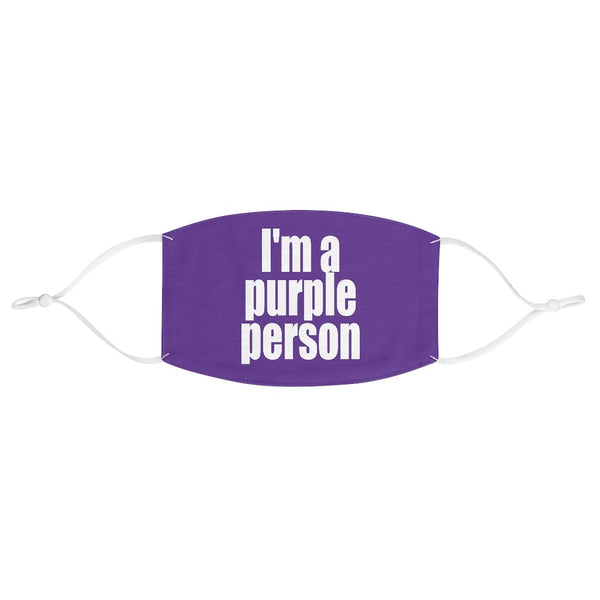 """I'm a Purple Person"" - Non-Surgical Fabric Face Mask - Purple Person Mask - Artichokes For Dinner • T-Shirts"