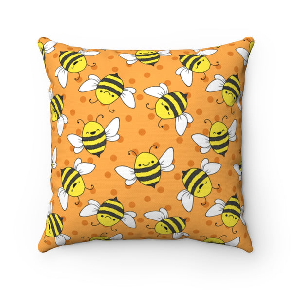 Happy Bee - Spun Polyester Square Pillow - Bee Decor - Artichokes For Dinner T-Shirts & Stuff