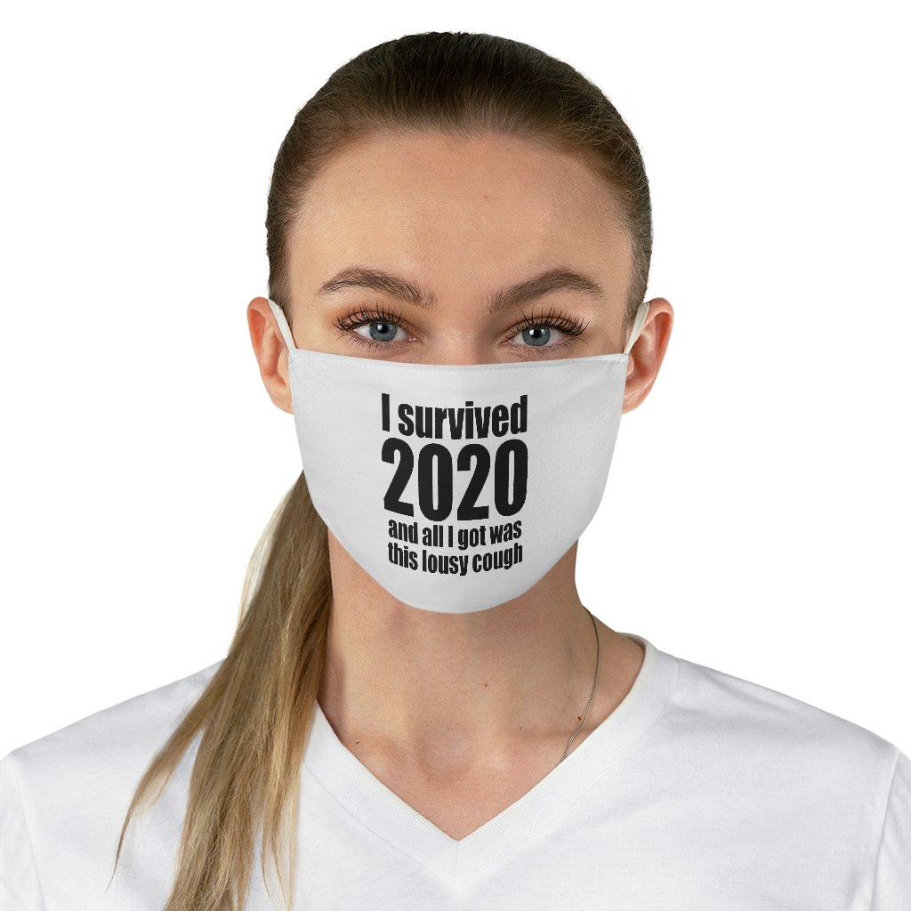 """I Survived 2020"" - Non-Surgical Fabric Face Mask - Funny Mask"