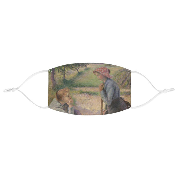 Camille Pissarro - Two Young Peasant Women - Fabric Face Mask - Artichokes For Dinner • T-Shirts