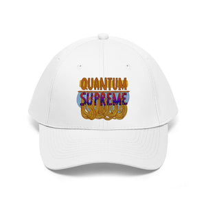"""Quantum Supreme"" - Unisex Twill Hat - Artichokes For Dinner • T-Shirts"