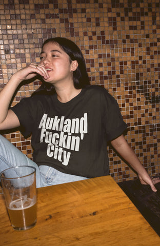 """Aukland Fuckin' City"" - Heavy Cotton Tee - New Zealand Shirt - Artichokes For Dinner • T-Shirts"