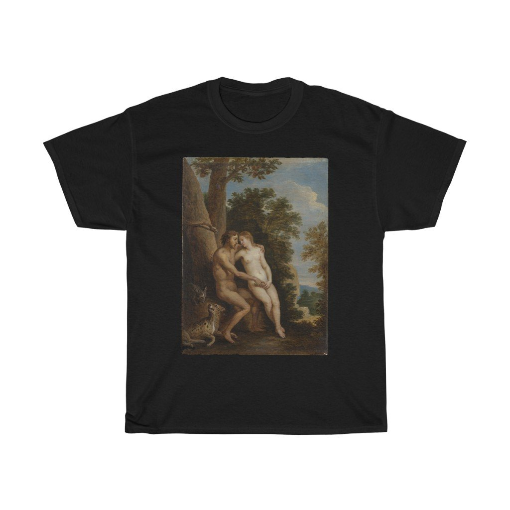David Teniers the Younger - Adam and Eve in Paradise -  Heavy Cotton Tee - Artichokes For Dinner • T-Shirts