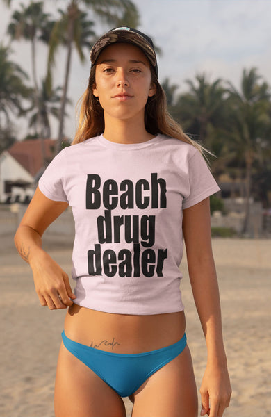 """Beach Drug Dealer"" - Heavy Cotton Tee - Drug Dealer Meme - Artichokes For Dinner • T-Shirts"