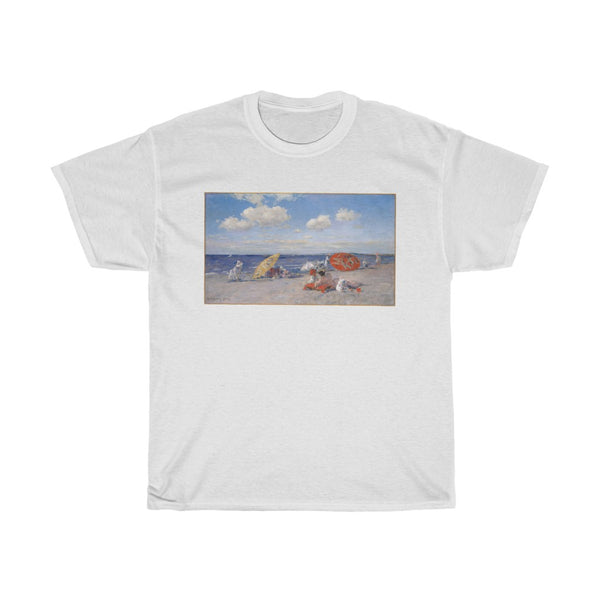 William Merritt Chase - At the Seaside - Heavy Cotton Tee - Beach Shirt