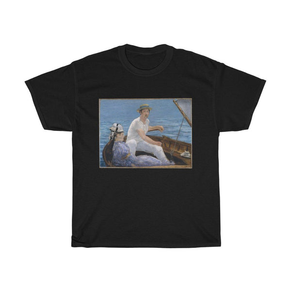 Edouard Manet - Boating - Heavy Cotton Tee - Boating Manet - Artichokes For Dinner • T-Shirts