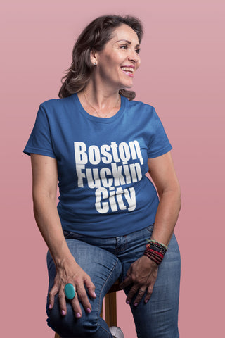 """Boston Fuckin' City"" - Heavy Cotton Tee - Boston Pride - Artichokes For Dinner • T-Shirts"