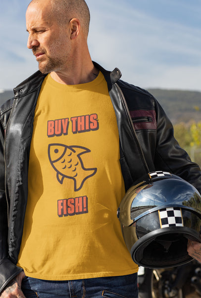 """Buy This Fish"" Heavy Cotton Tee - Fish Meme - Artichokes For Dinner • T-Shirts"