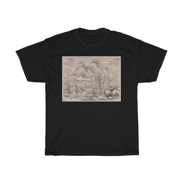 Yun Xiang - Snowscape, from Album for Zhou Lianggong - Heavy Cotton Tee - Artichokes For Dinner • T-Shirts