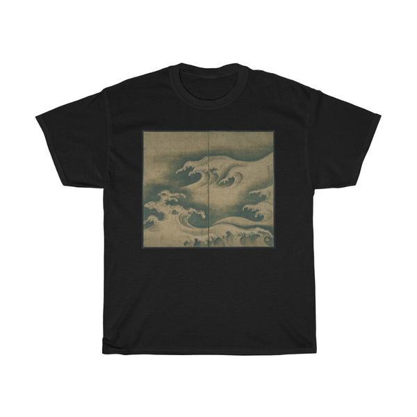 Ogata Korin - Rough Waves - Heavy Cotton Tee