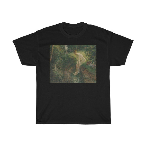 Camille Pissarro - Bather in the Woods -  Heavy Cotton Tee - Artichokes For Dinner • T-Shirts