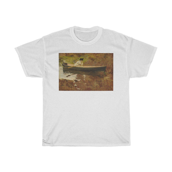 William Merritt Chase - Mrs. Chase in Prospect Park - Heavy Cotton Tee - Artichokes For Dinner • T-Shirts