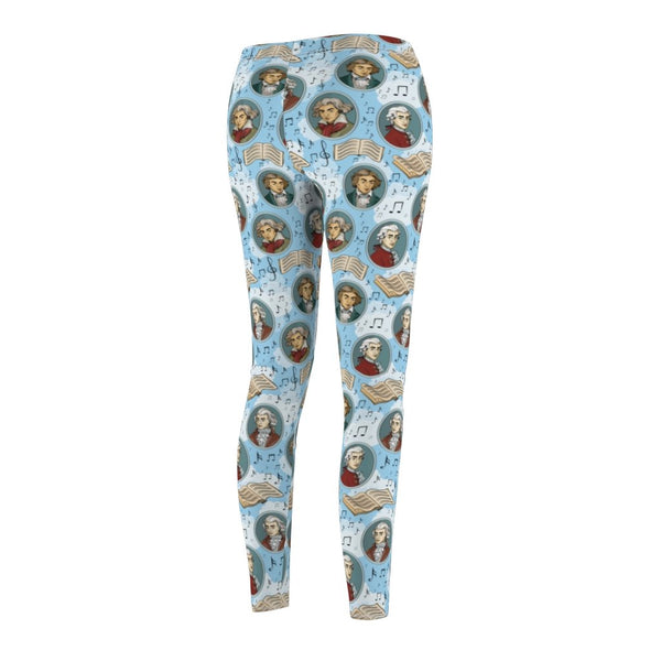 Mozart & Beethoven - Women's Cut & Sew Casual Leggings - Gift Ideas for Musicians - Artichokes For Dinner T-Shirts & Stuff