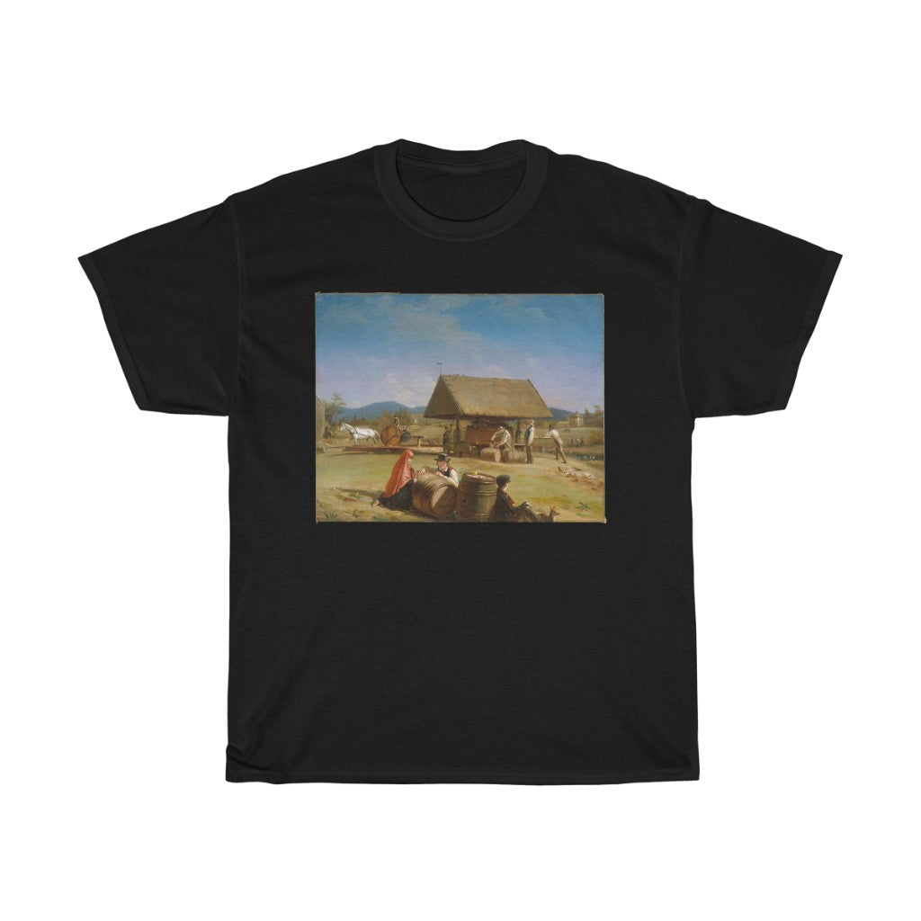 William Sidney Mount - Cider Making - Heavy Cotton Tee
