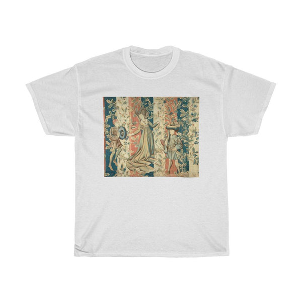 Courtiers in a Rose Garden - Heavy Cotton Tee - Castle Tapestry - Artichokes For Dinner • T-Shirts