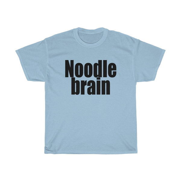 """Noodle Brain"" - Heavy Cotton Tee - Use Your Noodle - Artichokes For Dinner • T-Shirts"