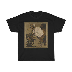 Shibata Zeshin - Peonies - Heavy Cotton Tee - Artichokes For Dinner • T-Shirts