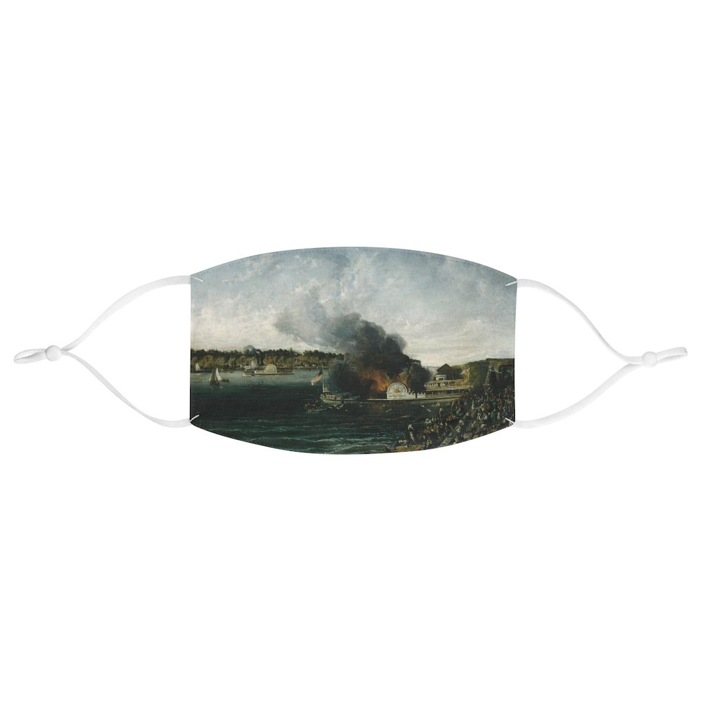 Burning of the Sidewheeler Henry Clay - Fabric Face Mask - Artichokes For Dinner • T-Shirts