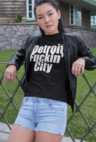 """Detroit Fuckin' City"" - Heavy Cotton Tee - Detroit Pride - Artichokes For Dinner • T-Shirts"
