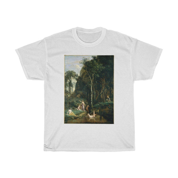 Camille Corot - Diana and Actaeon (Diana Surprised in Her Bath) - Heavy Cotton Tee - Artichokes For Dinner • T-Shirts