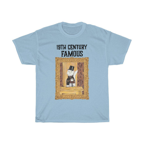 """19th Century Famous"" - with cat - Heavy Cotton Graphic Tee - Funny Cat Shirt - Artichokes For Dinner • T-Shirts"
