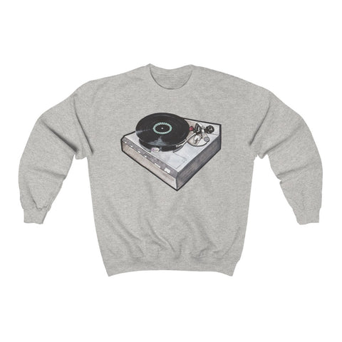 Stackable Turntable - Heavy Blend Crewneck Sweatshirt - Vinyl Record Gifts - Artichokes For Dinner • T-Shirts